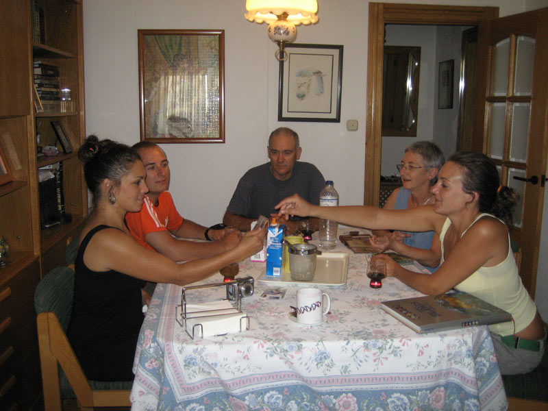 host family at the dinner table