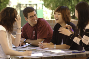international students learning proper english