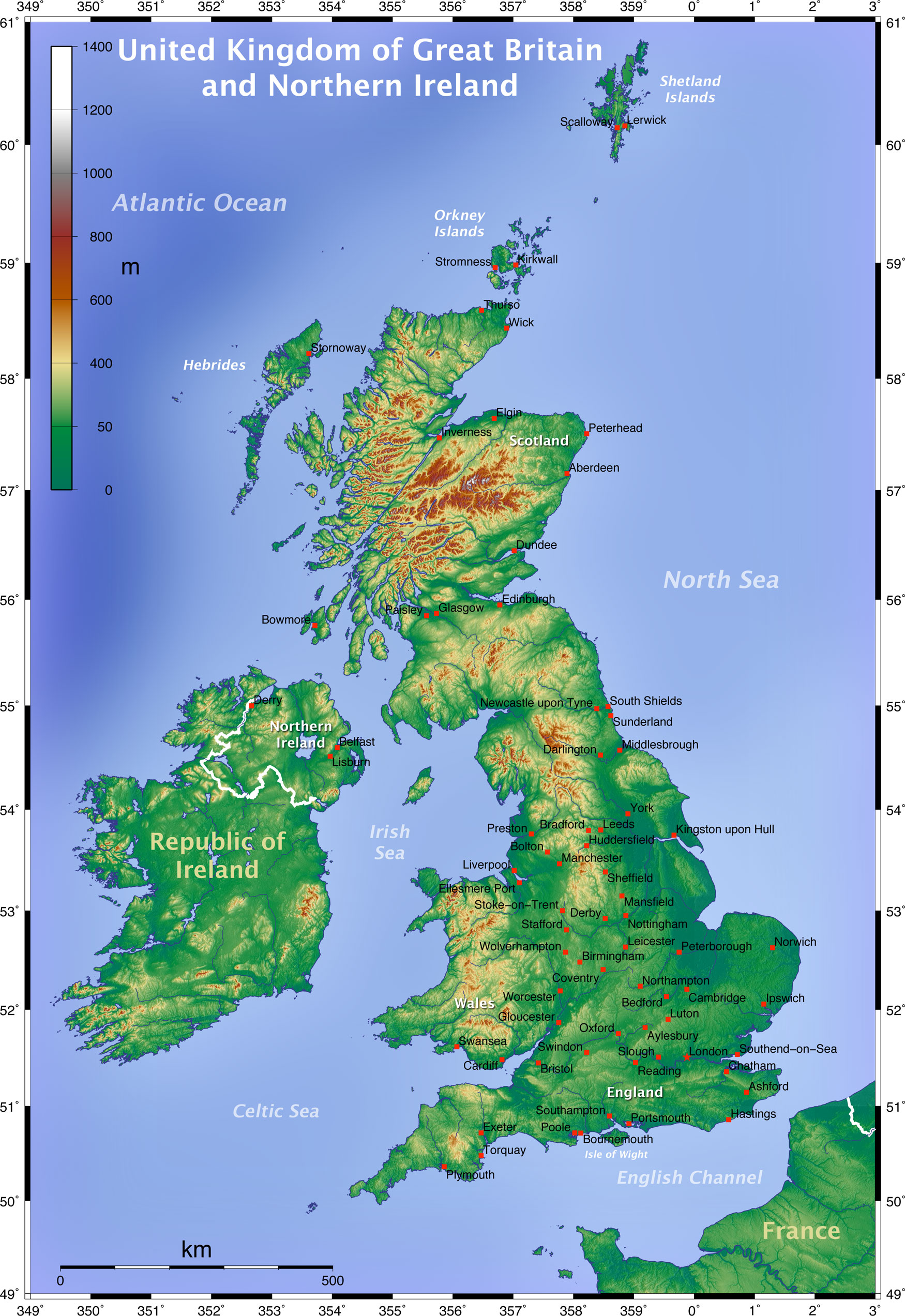 Map of UK Englandedu